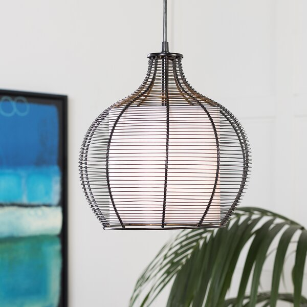 Richey Transitional 1-Light Dome Pendant by Bay Isle Home