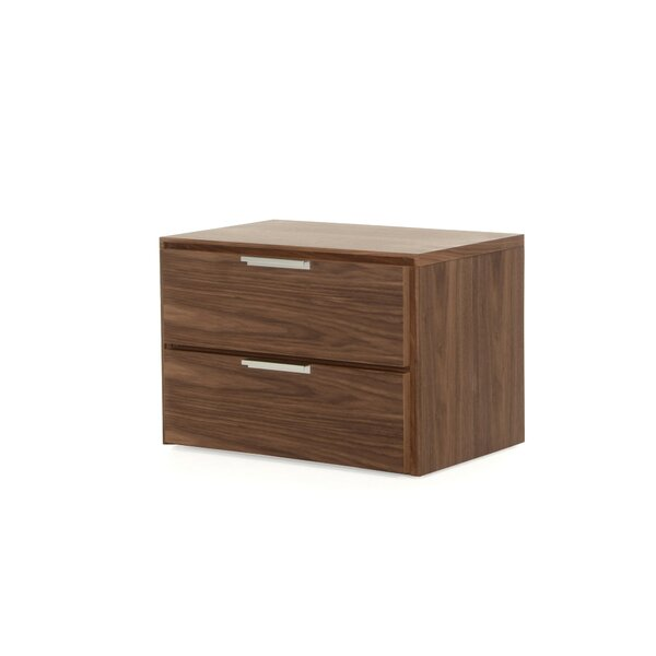 Colucci 2 Drawer Nightstand by Orren Ellis