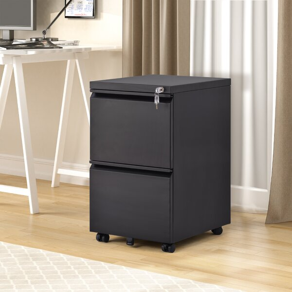 Home Office 2-Drawer Mobile Vertical Filing Cabinet