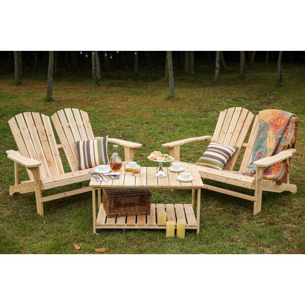 Ogrady Wood Adirondack Chair with Table by Loon Peak Loon Peak