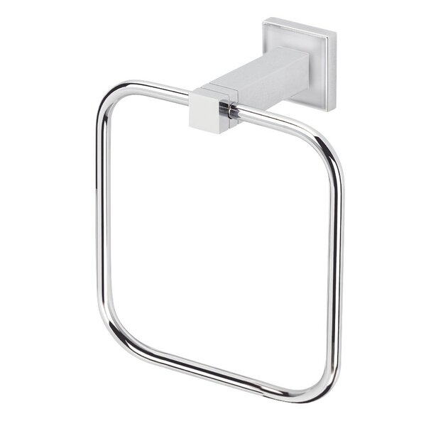 Cubis Plus Wall Mounted Towel Ring by Valsan