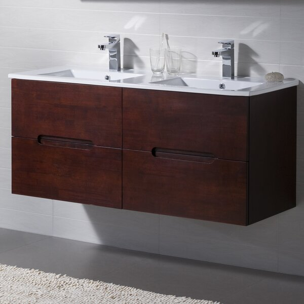 Elton 48 Wall-Mounted Double Bathroom Vanity Set by INOLAV