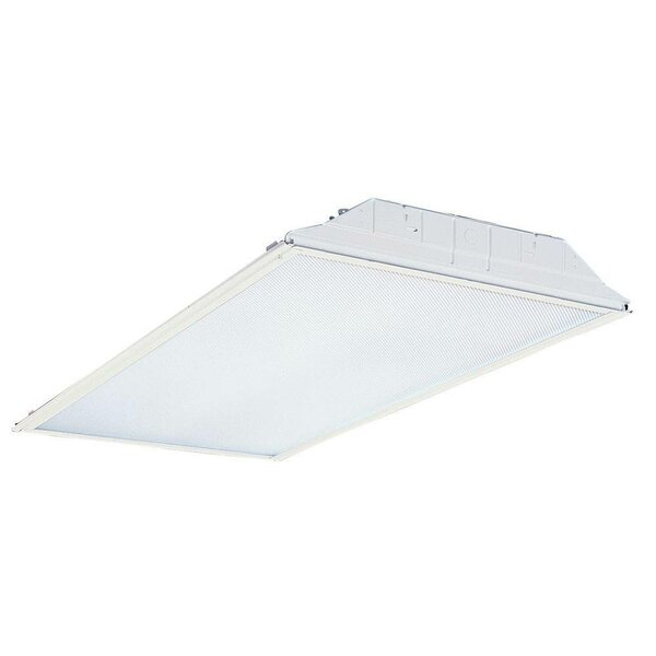 GT 4-Light Fluorescent Lensed Troffer Semi Flush Mount by Lithonia Lighting