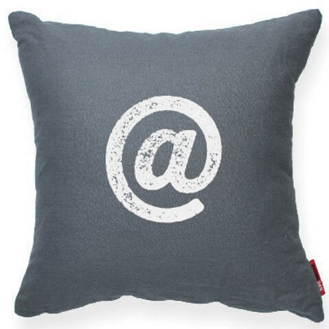 Symbol @ Decorative Throw Pillow by Posh365