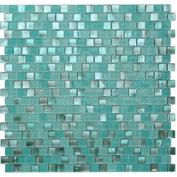 Opal 0.63 x 0.63 Glass Mosaic Tile in Biscayne Bay by Kellani