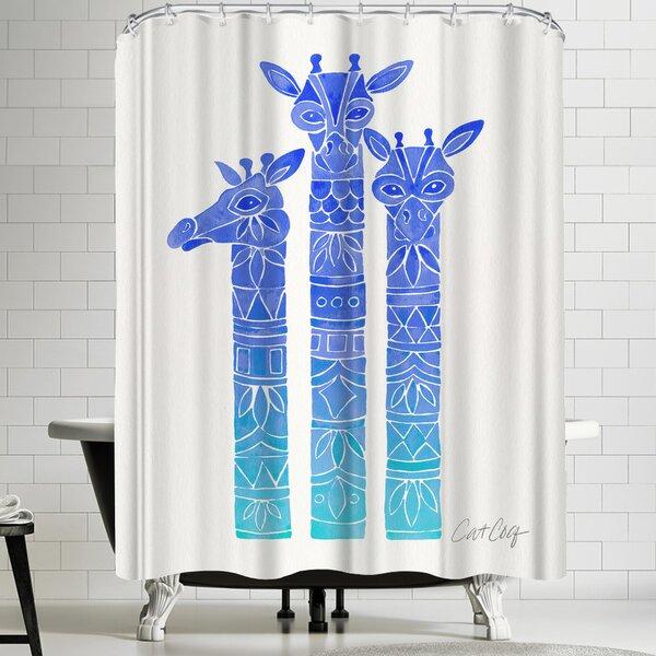 Blue Ombre Shower Curtains | Wayfair