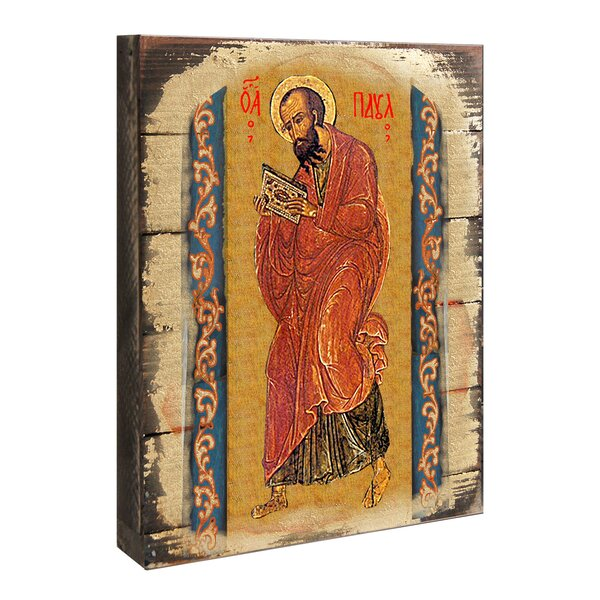 Inspirational Icon Saint Paul Icon Painting by G Debrekht