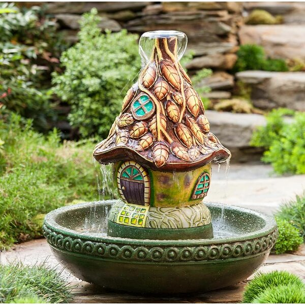 Resin Fairy House Fountain by Wind & Weather