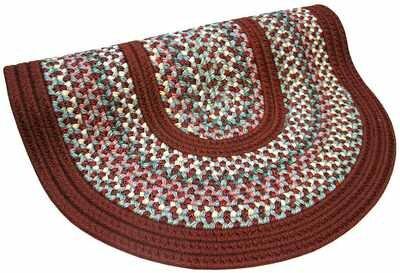 Pioneer Valley II Indian Summer with Burgundy Solids Round Rug by Thorndike Mills