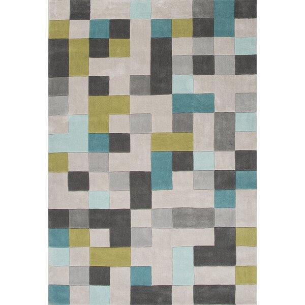 Bard Hand-Tufted Gray Area Rug by Mercury Row