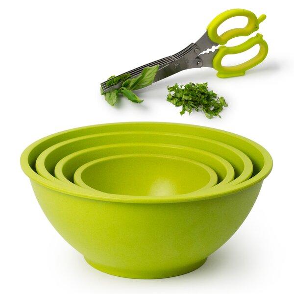 Homegrown Gourmet 5 Piece Bamboo Fiber Bowl Set by Architec