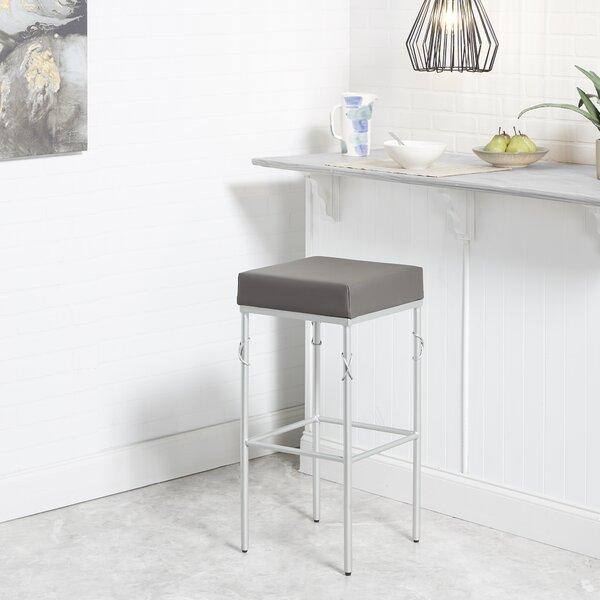 Dabbs Upholstered 24'' Bar Stool by Ebern Designs