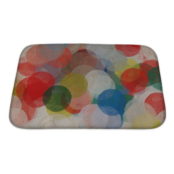 Art Beta Abstract Paint Smudged Circles Colorful Grungy Bath Rug by Gear New