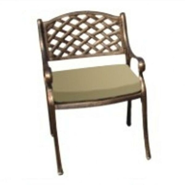 Mesh Patio Dining Chair with Cushion by DC America
