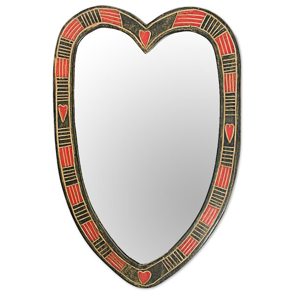 Plaza Athene Wood Wood Wall Mirror by Bloomsbury Market