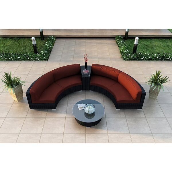 Azariah 4 Piece Sunbrella Sectional Set with Cushions by Orren Ellis