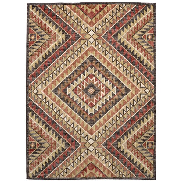Destinations South Pass Charcoal/Gold Area Rug by Mohawk Home