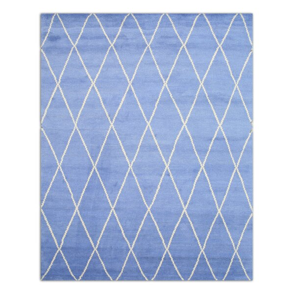 Durrant Hand-Knotted Blue Area Rug by Brayden Studio