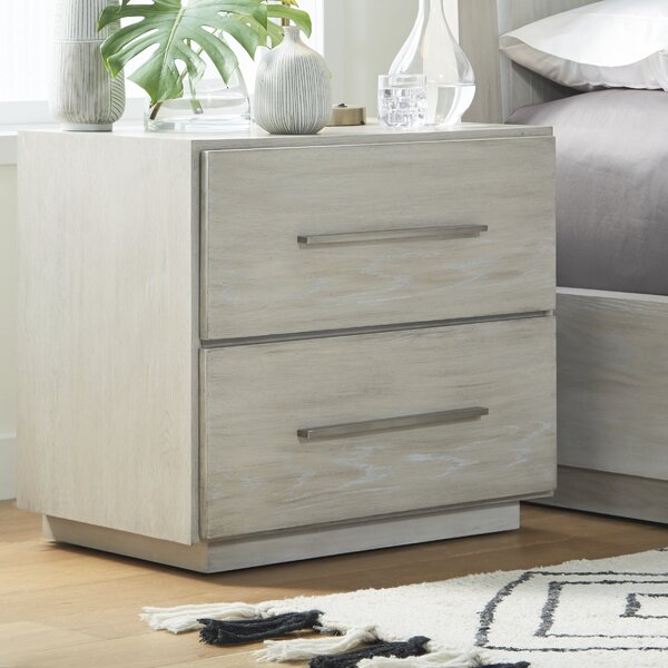 Monatuk 2 Drawer Nightstand by Wrought Studio
