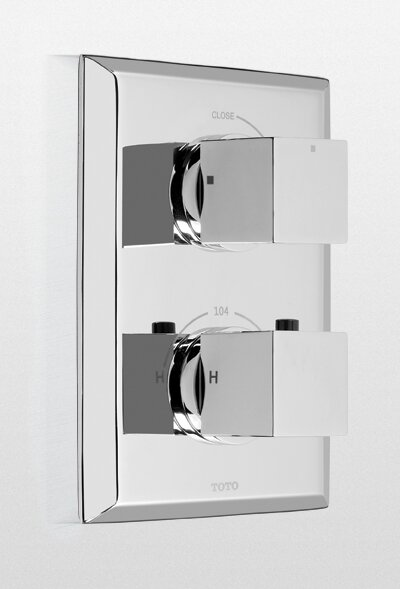 Lloyd Thermostatic Mixing Valve Trim with Single Volume Control by Toto