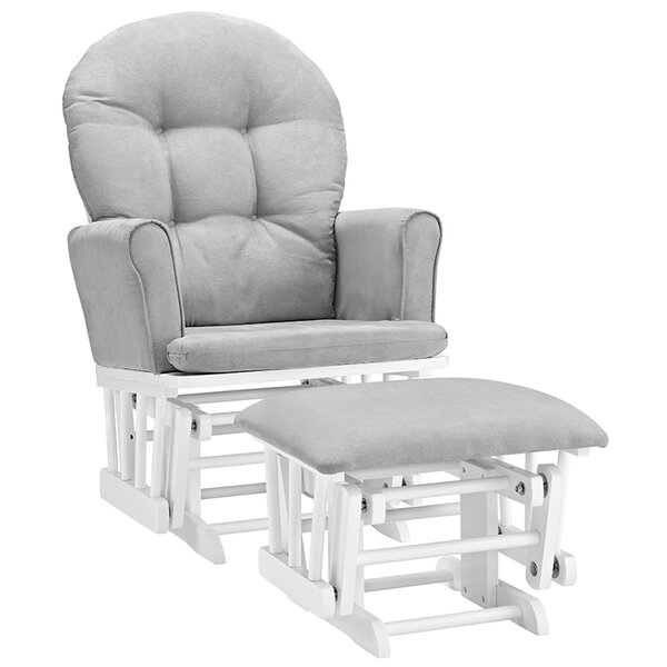 Rossi Semi-Upholstered Glider and Ottoman by Viv + Rae