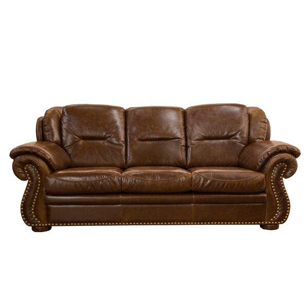 Wyatt  Leather Sofa by Fornirama