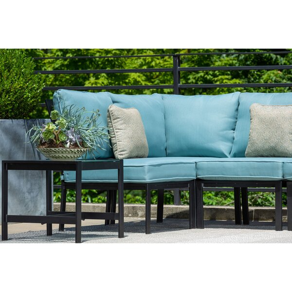 Baer 6 Piece Modular Sectional Seating Group with Cushions by Highland Dunes