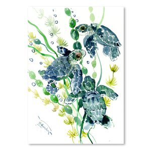 Thee Sea Turtles  Painting Print by East Urban Home