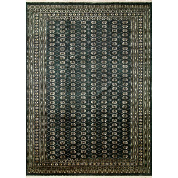 One-of-a-Kind Urgeon Hand-Knotted Green Area Rug by World Menagerie