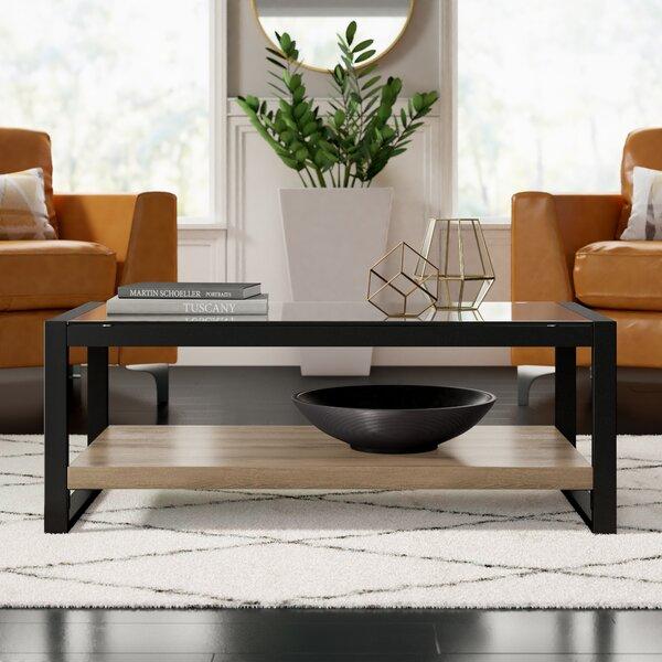 Theodulus Sled Coffee Table With Storage By Mercury Row