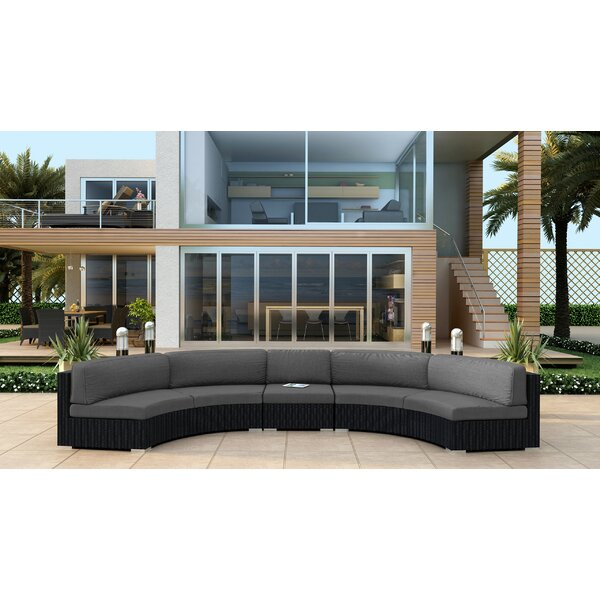 Azariah 3 Piece Extended Curved Sectional Set with Cushions by Orren Ellis