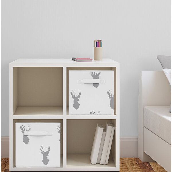 Woodland Deer Fabric Storage Cube by Sweet Jojo Designs