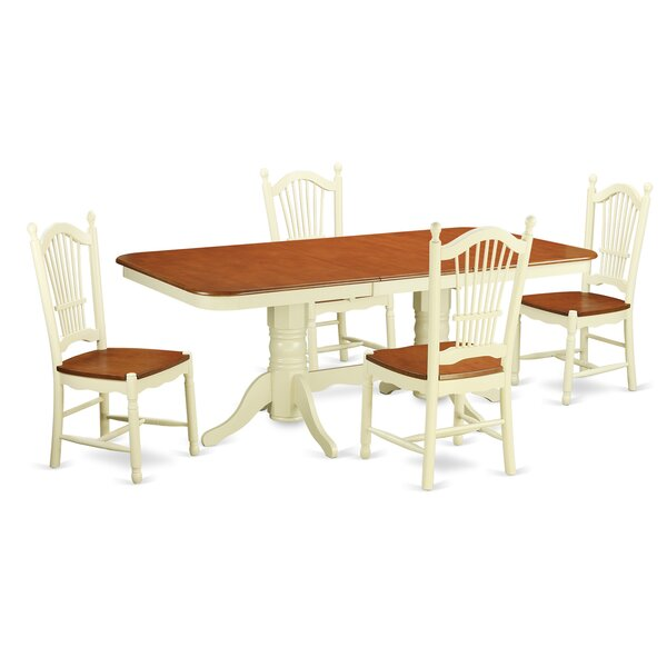 Pillsbury Modern 5 Piece Wood Dining Set by August Grove August Grove
