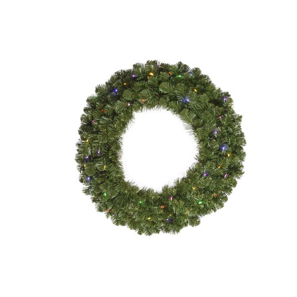 36 Lighted Artificial Grand Teton Double Sided Christmas Wreath by Vickerman