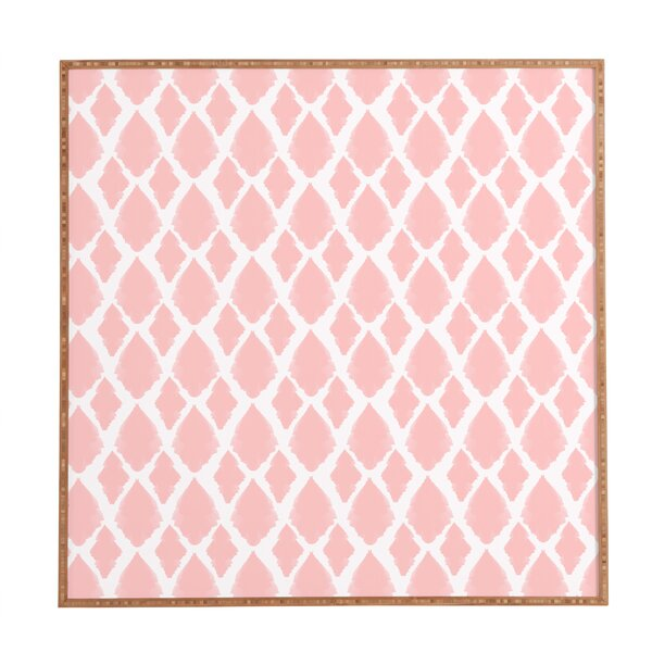 Blushed Ikat Framed Graphic Art by East Urban Home