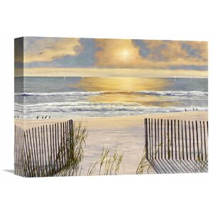 'Beach Light' by Diane Romanello Painting Print on Wrapped Canvas by Global Gallery