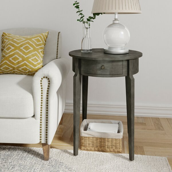 Burgan End Table With Storage By Charlton Home