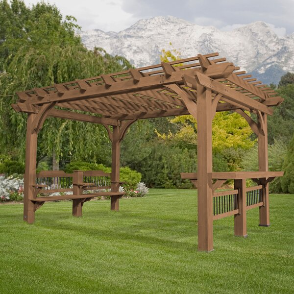 Oasis 14 Ft. W x 10 Ft. D Cedar Pergola by Backyard Discovery