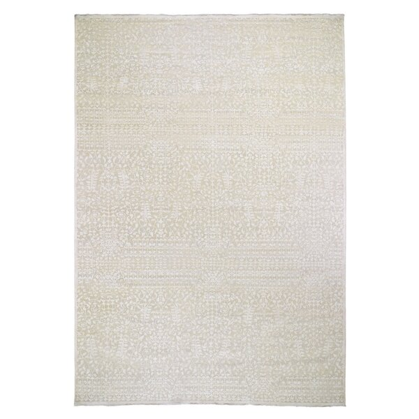 One-of-a-Kind Hand-Knotted Beige 9'9 x 14' Area Rug