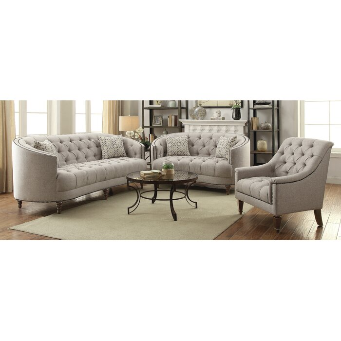 Lenum 3 Piece Living Room Set