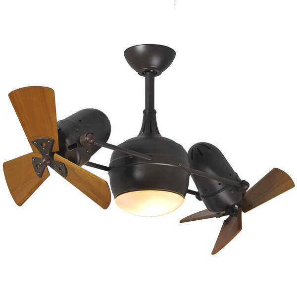41 Valerian 6-Blade Dual Ceiling Fan with Wall Remote by 17 Stories