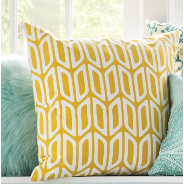 Arsdale Geometric Cotton Throw Pillow Cover by Langley Street
