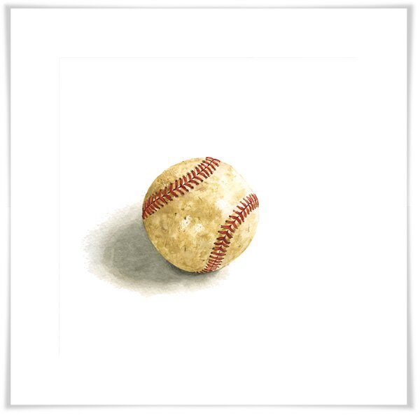 Greta Sports and Games - Game Ball Paper Print by Zoomie Kids