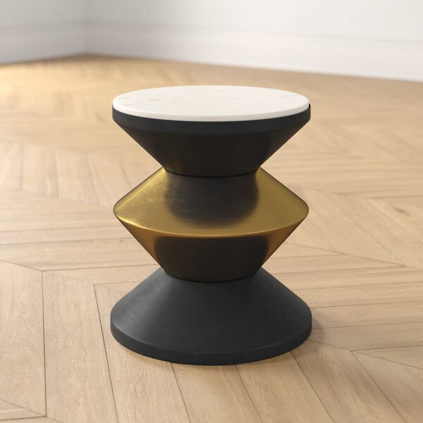 Block Drum End Table By Foundstone