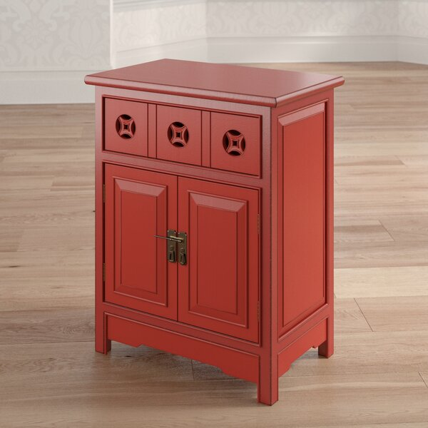 Lamberta Wooden Accent Cabinet with 1 Drawer and 2 Doors by World Menagerie