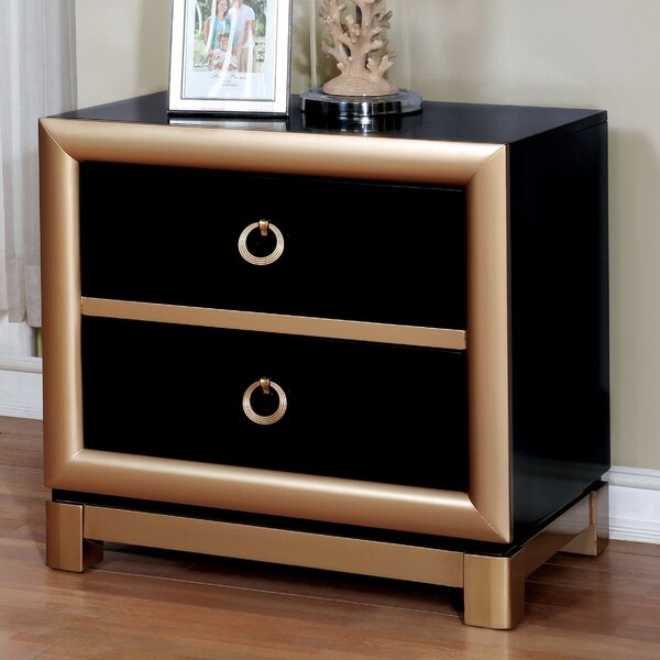 Cobbett 3 Drawer Nightstand by Mercer41