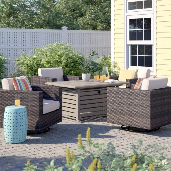 Barwick 5 Piece Rattan Sofa Seating Group with Cushions by Sol 72 Outdoor