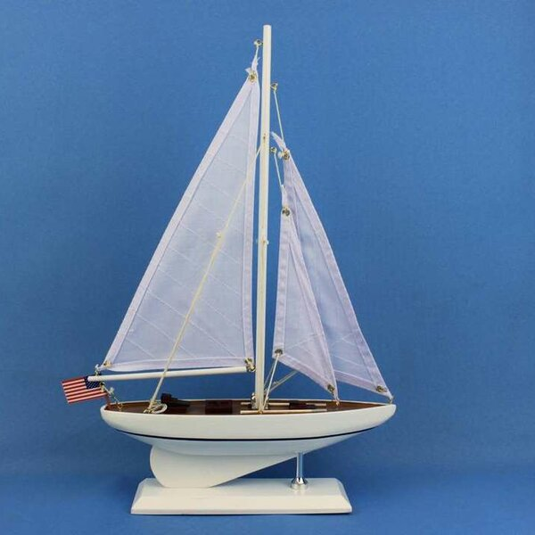 Intrepid Sail Model Boat by Handcrafted Nautical Decor