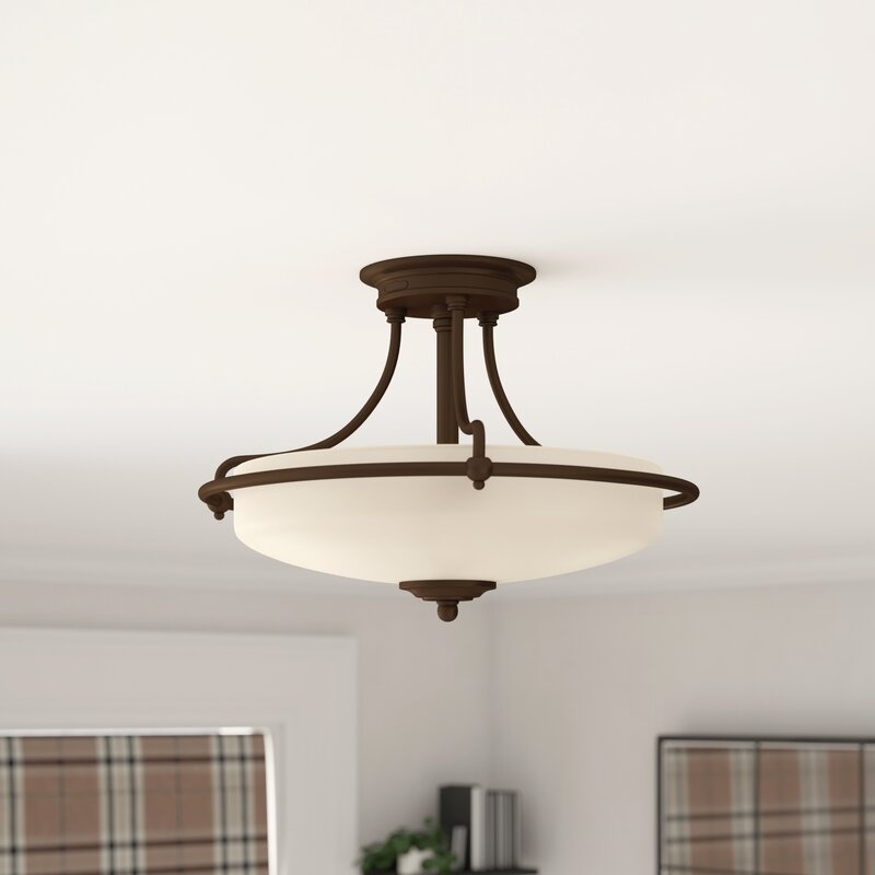 43cm Semi Flush Ceiling Light
