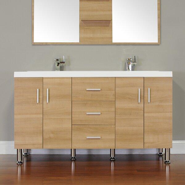 Waldwick 57 Double Bathroom Vanity Set by Wade Logan